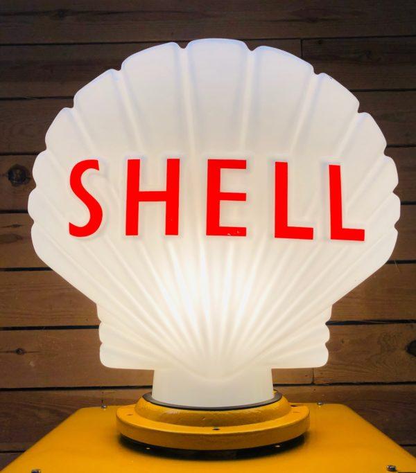 ancienne pompe essence satam shell