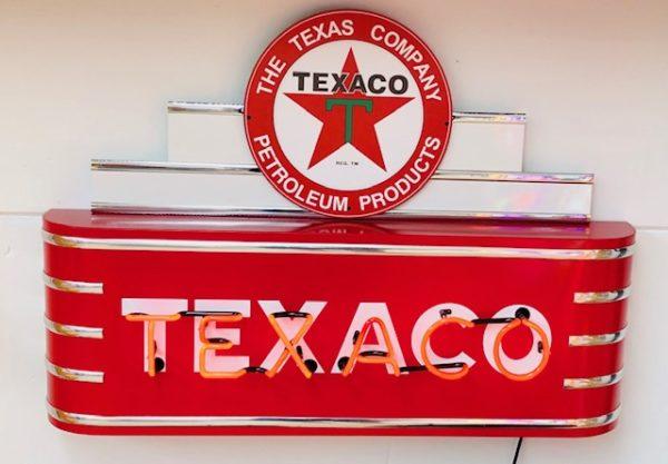 enseigne néon vintage texaco