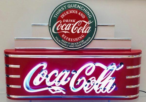 enseigne neon rétro coca-cola