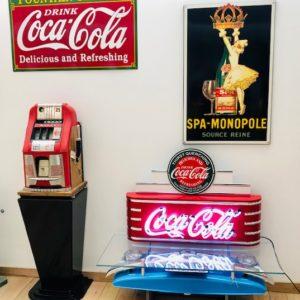 enseigne neon vintage coca-cola