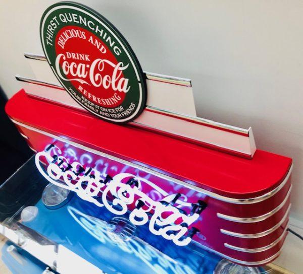 enseigne neon vintage coca-cola diner