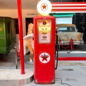 ancienne pompe essence Texaco