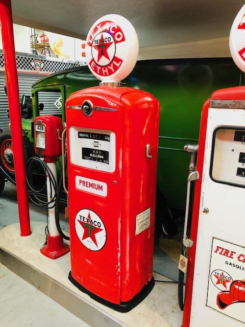 pompe essence américaine Texaco