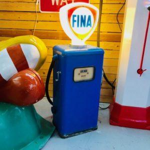 Vintage pure fina gas pump