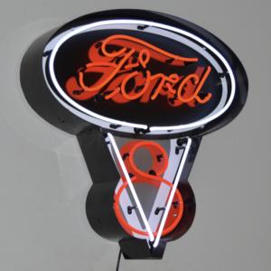 Enseigne néon Ford V8