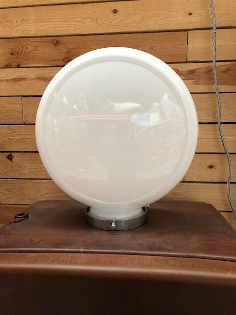 Globe opaline en verre