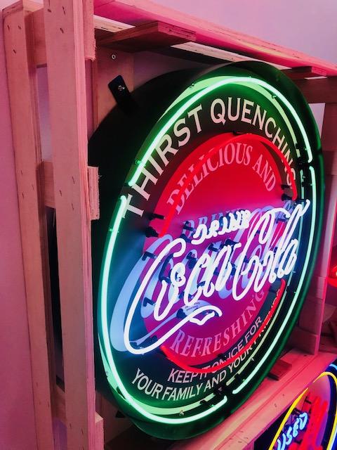 enseigne neon coca cola metal can
