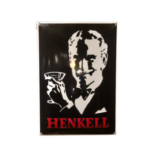 plaque emaillée Henkell 50x35cm