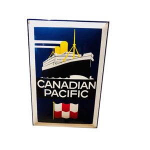 plaque émaillée canadian pacific 60x40cm