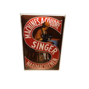 plaque émaillée Singer 50x35cm