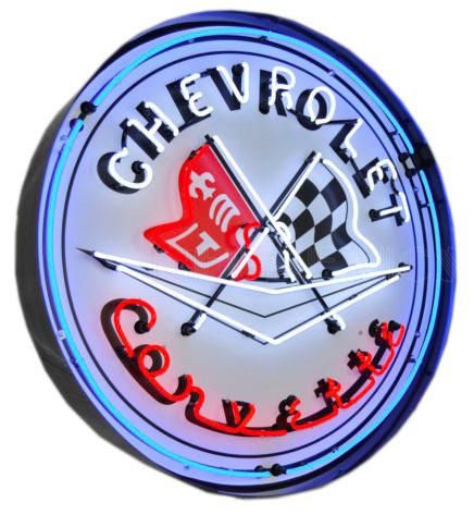 Enseigne néon Chevrolet Corvette 60 cm
