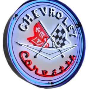 Enseigne Néon Chevrolet Corvette 95 cm