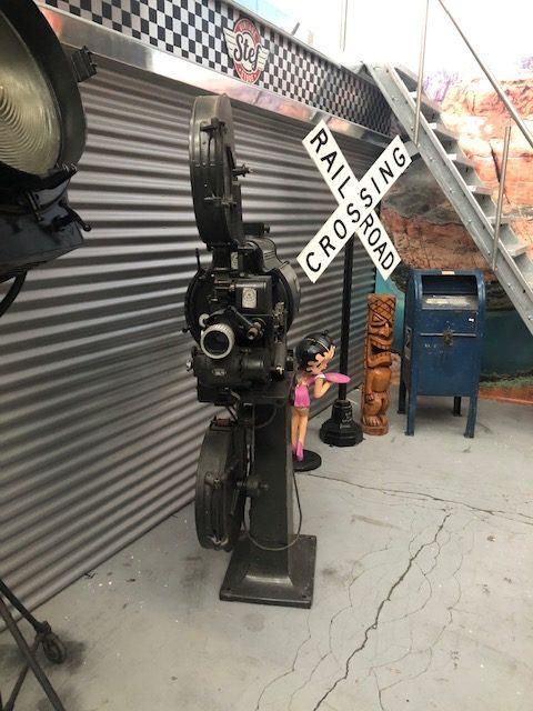 Projecteur de cinéma noir