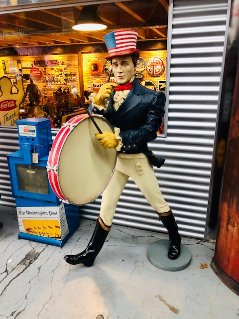 American statue johnny walker life-size