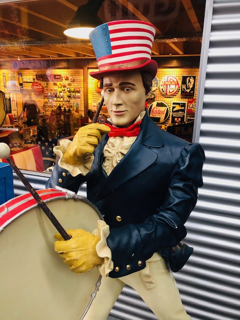 American  Johnny walker statue