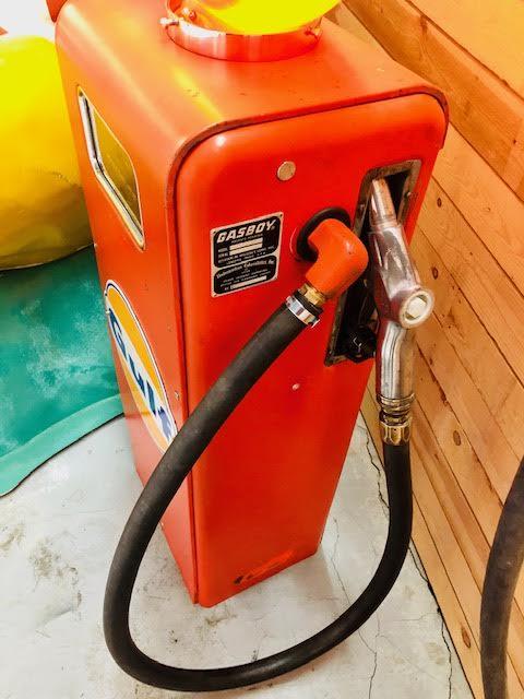 Gulf vintage gas pump made by gasboy