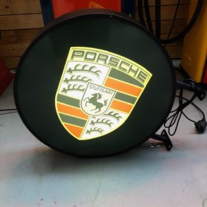 Porsche Illuminated sign double-sided 60cm