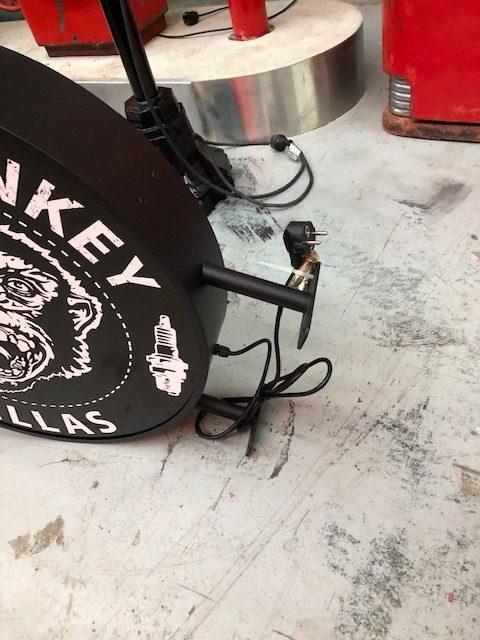 Enseigne lumineuse Gas monkey double face