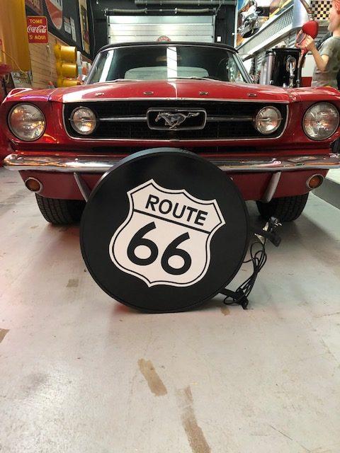 Enseigne lumineuse Route 66 double face
