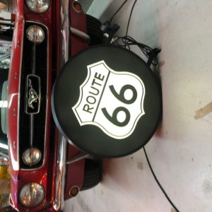 Route 66 double-sided illuminated sign 60 cm
