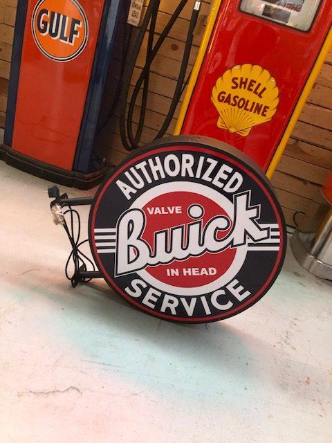 Enseigne lumineuse Buick double face 60 cm