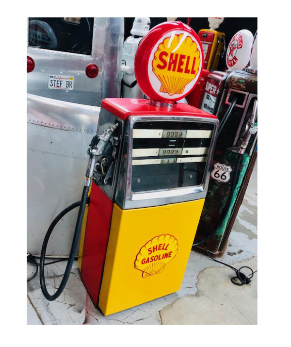 shell vintage gas pump made by satam