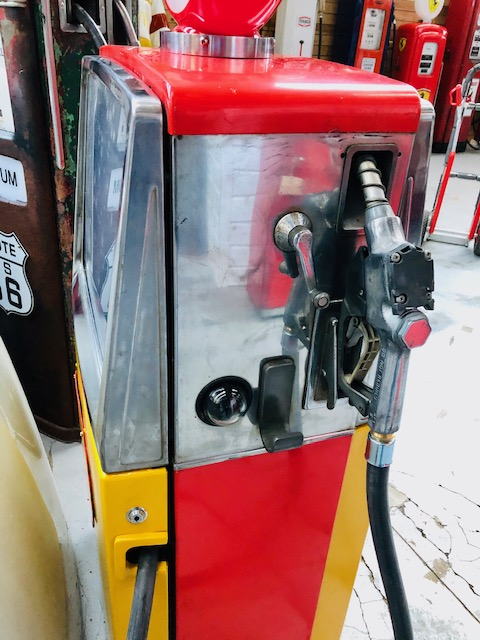 shell vintage gas pump from the 70's