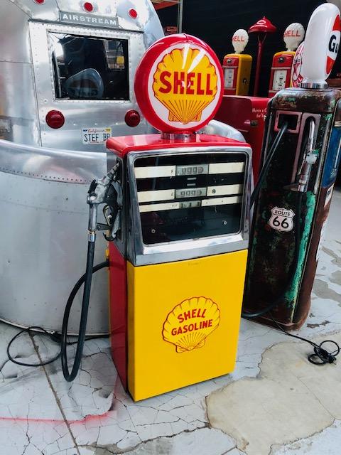 shell vintage gas pump Belgium