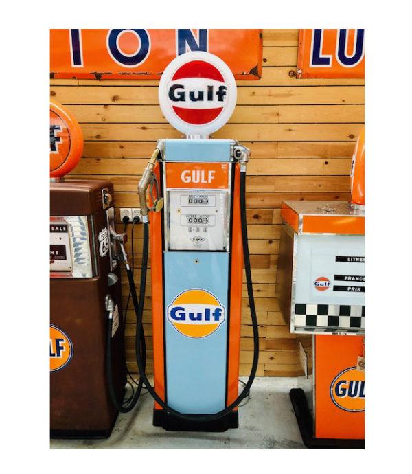Gulf 1950 vintage gas pump