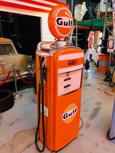gulf gas pump from 1957