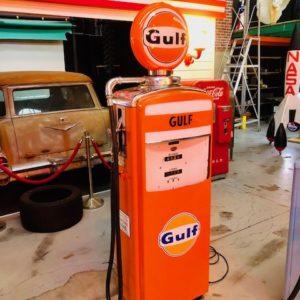 gulf vintage gas pump from 1957