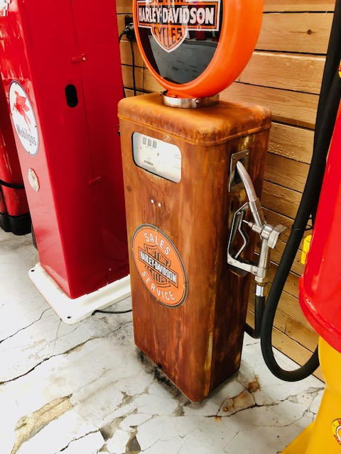 Harley Davidson vintage gas pump
