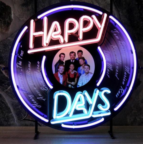 enseigne neon happy days 60 cm