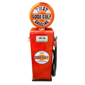 ancienne pompe essence Gulf GASBOY
