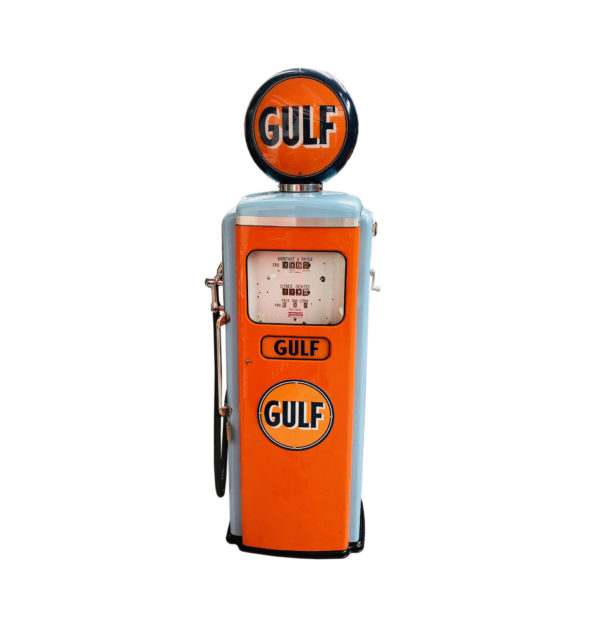 Pompe à essence Gulf Tokheim de 1954 restaurée