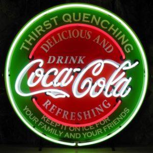 enseigne néon vintage Coca Cola 60 cm