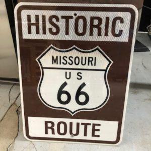 Panneau Routier Américain Route 66 Missouri
