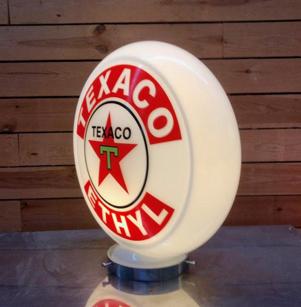 Opaline pompe essence Texaco 40cm