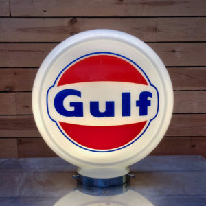 Gulf Gas Pump Globe 40cm in museum quality