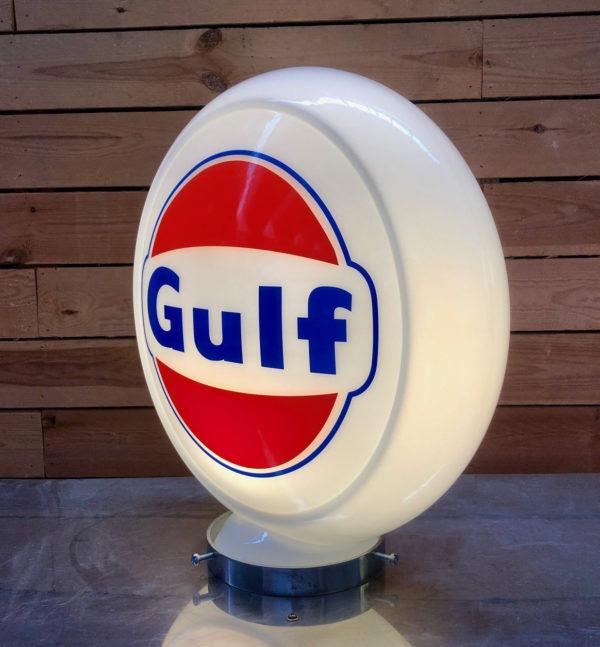 Globe pompe essence Gulf 40cm en verre