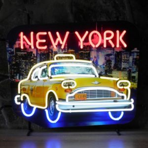 enseigne neon Taxi New York 62x32 cm