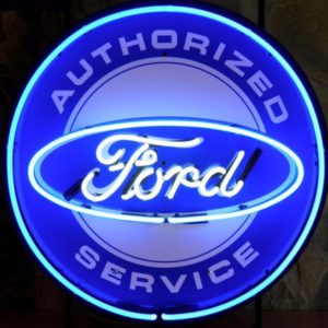 enseigne néon ford authorized services 60 cm