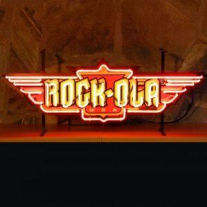 enseigne neon rock ola 84x31 cm