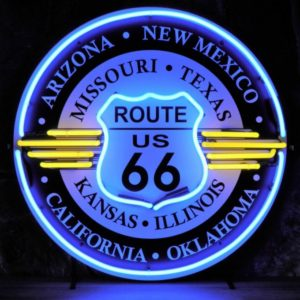 Route 66 Neon sign with all states 60cm.