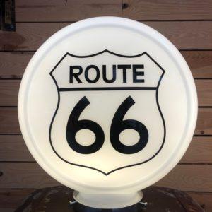 Route 66 gas pump globe.