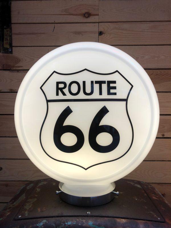 Globe pompe à essence Route 66