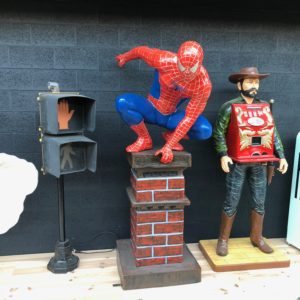 spiderman life size statue 2 meters high