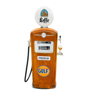 Gulf Bennett American gas pump with beer pump