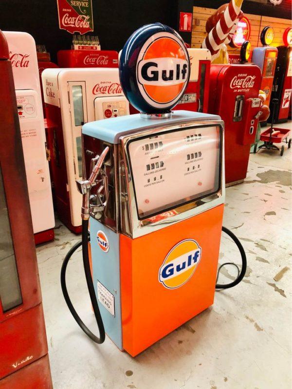 Pompe à essence Gulf 1957