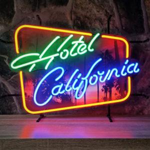 enseigne neon Hotel California